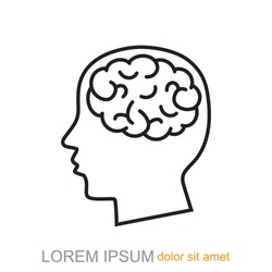 Line icon-  brain