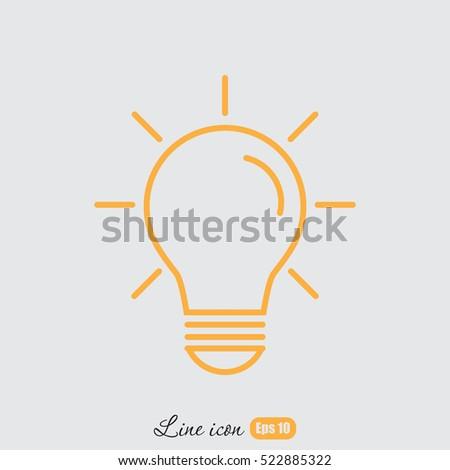 Line icon- bulb idea