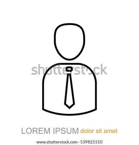 Line icon- businessman #539821510