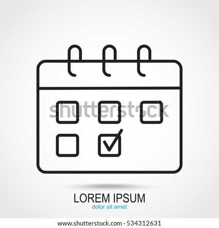 line icon  calendar