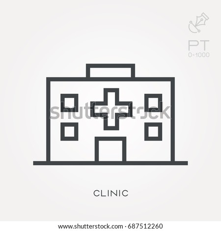 Line icon clinic