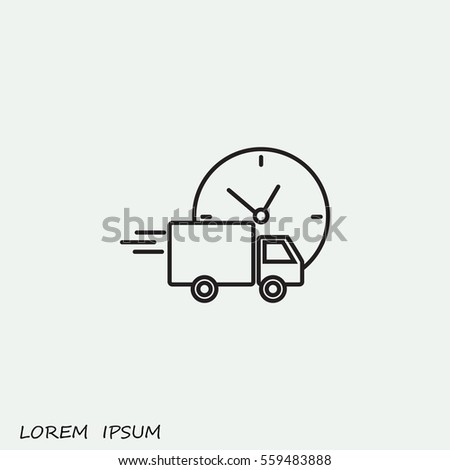 Shutterstock Line icon-  delivery express