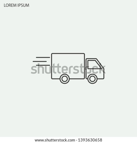 Line icon- delivery vector illustration