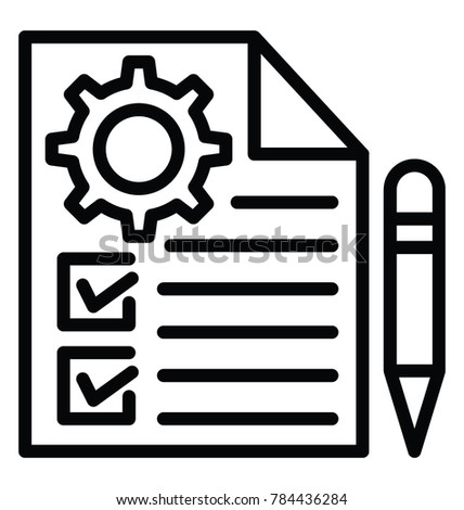 Line icon design of order management