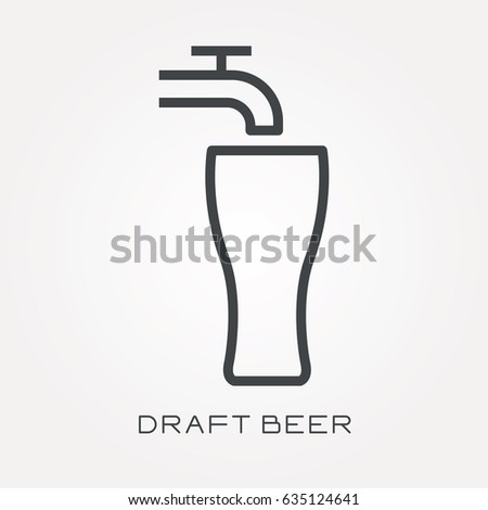 Line icon draft beer