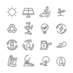 line icon electric power clean ennergy concept. editable stroke. vector illutration.