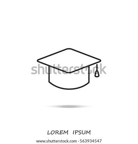 Line icon- graduation cap