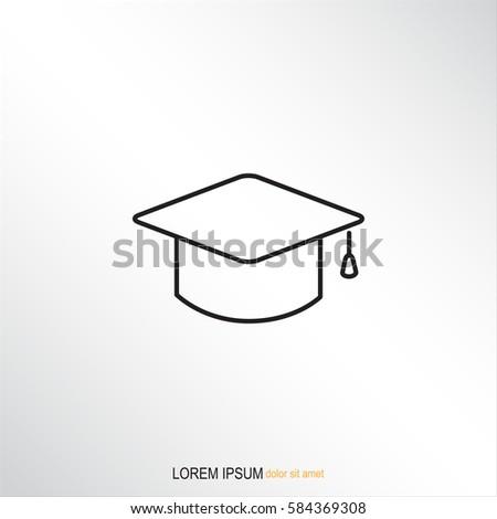 Line icon- graduation cap