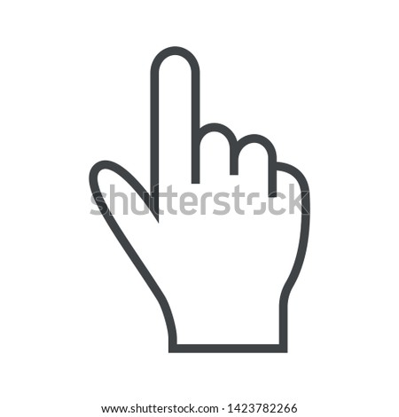 Line icon hand like gun. Simple vector illustration with ability to change.