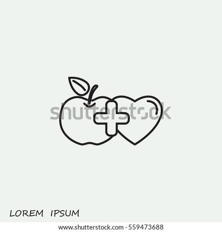 Line icon- health