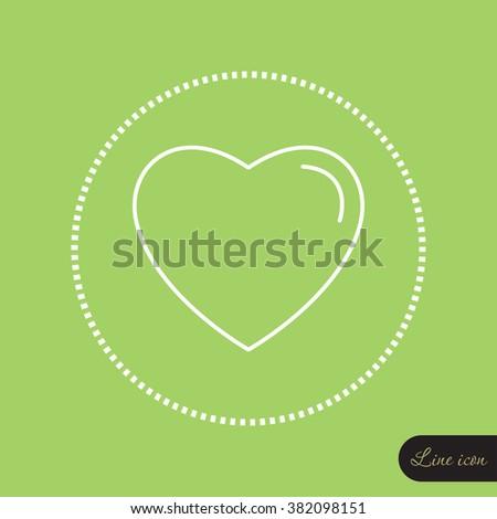 Line icon- heart
