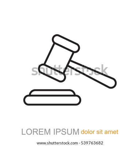 line icon   judge gavel