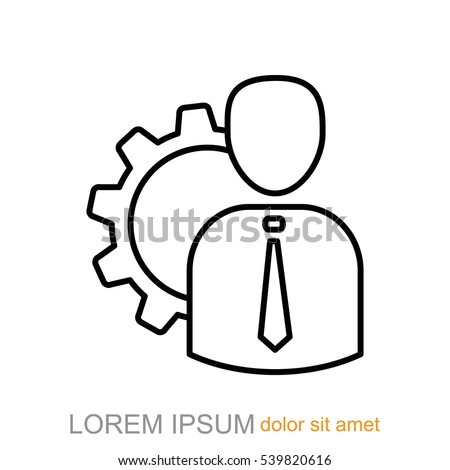 Line icon-   Management