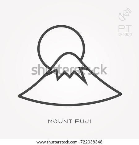 line icon mount fuji