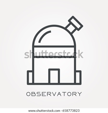 line icon observatory