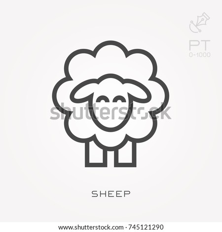 line icon sheep