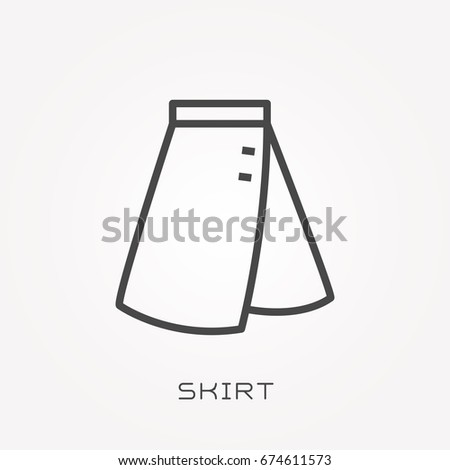 Line icon skirt