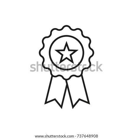 Line icon. Star badge #737648908