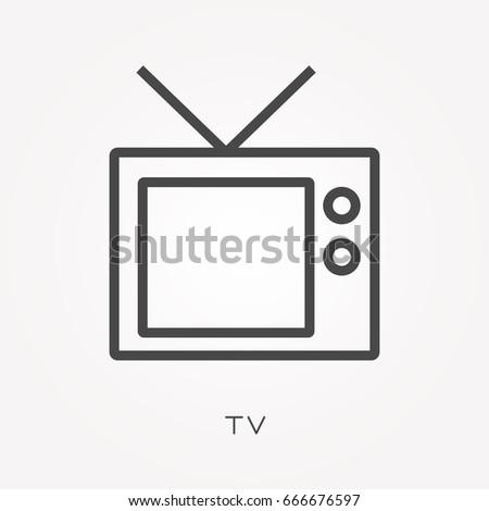 Line icon TV