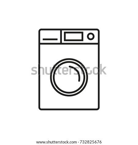 Line icon. Washing machine