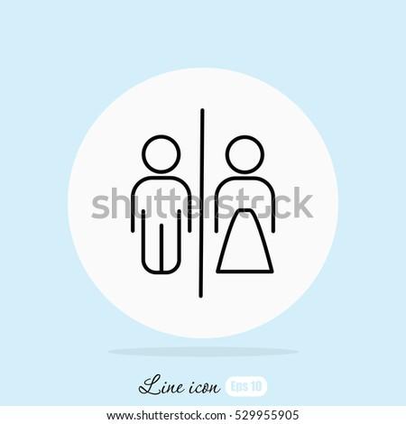Line icon- WC
