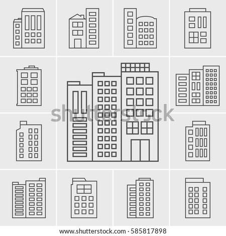 Line Icons Building set