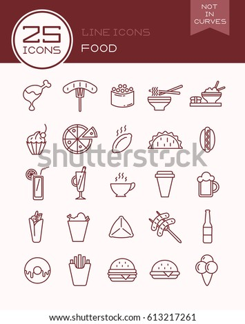 Line icons food