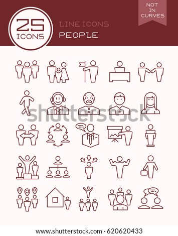 Line icons people