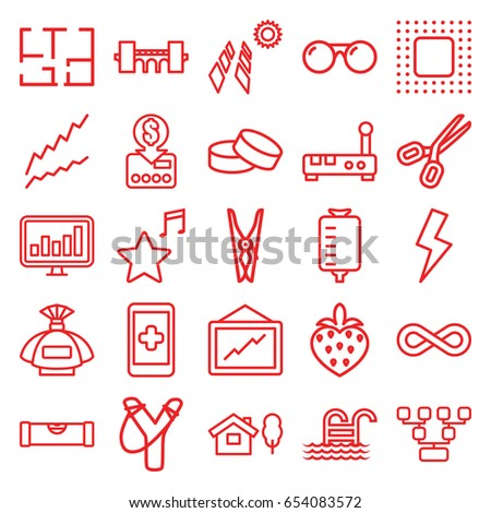 line icons set set of 25 line