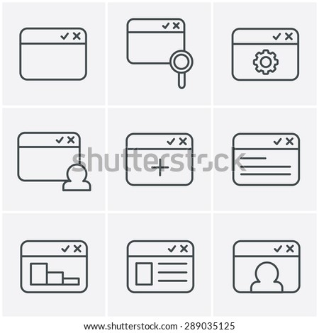 Line Icons Style browser icon set