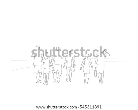line illustration of a group of