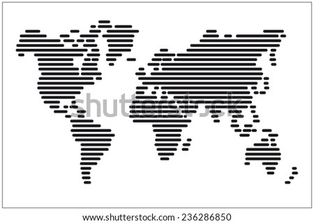 line image of a Vector world map