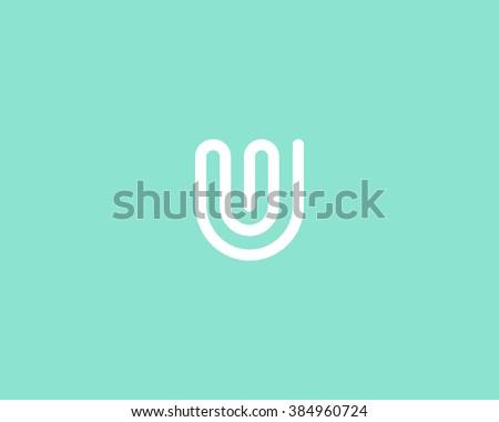 line letter u logotype