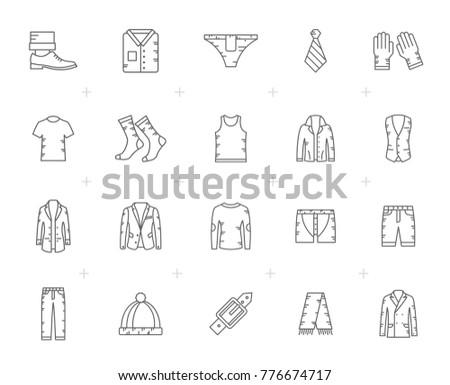 Jaqueta de couro Line Art Vector Set - Download Vetores e Gráficos