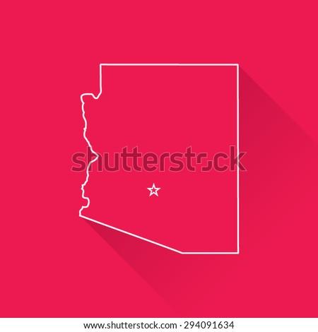 Line Map of Arizona