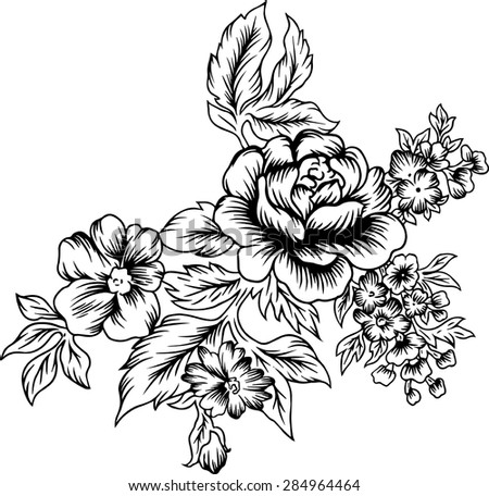 line of bouquetvector