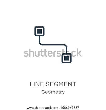 Line segment icon vector. Trendy flat line segment icon from geometry collection isolated on white background. Vector illustration can be used for web and mobile graphic design, logo, eps10
