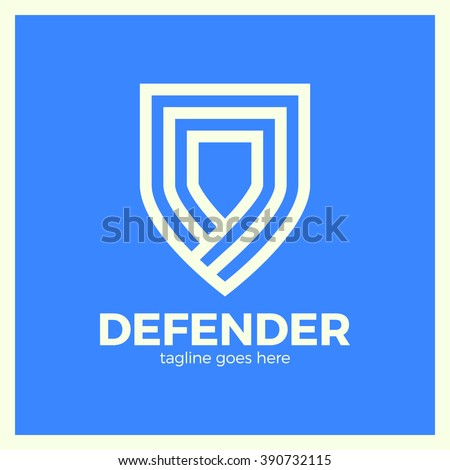 line shield logotype three