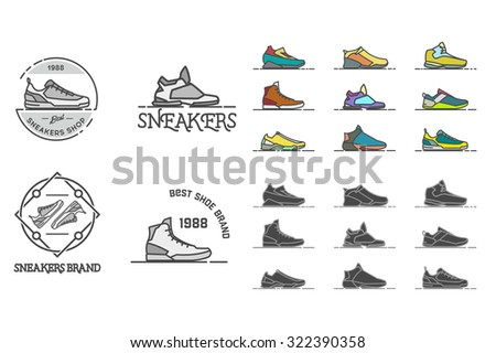 line sneakers and shoes labels