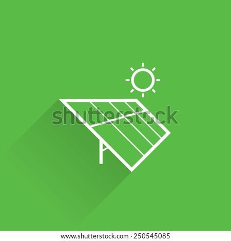 Line Solar Energy Icon