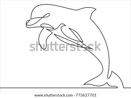 Dolphins outlines download free vector art stock graphics images line style dolphin vector illustration continuous line drawing thecheapjerseys Choice Image