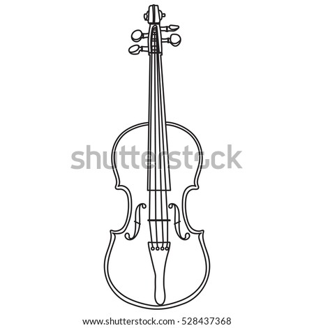 Line style vector violin isolated on white background. Violin vector illustration. Stock fotó ©