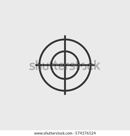Line target  icon illustration isolated vector sign symbol