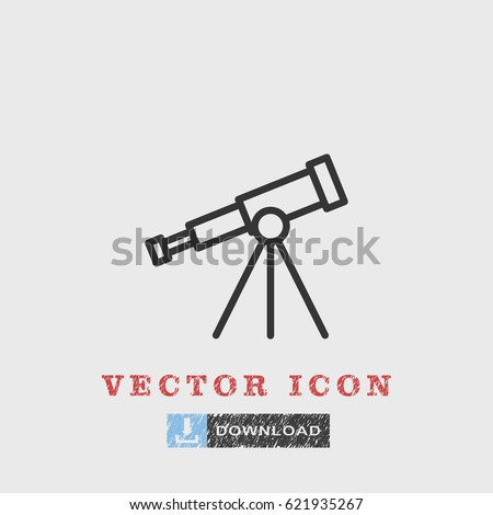 Line Telescope  icon illustration isolated vector sign symbol