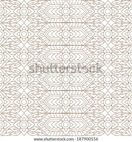 line thai background art vector