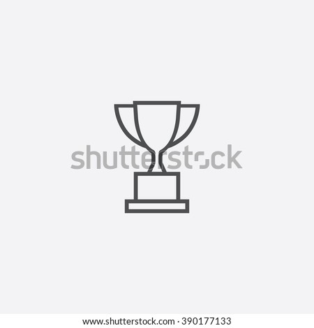 line trophy Icon