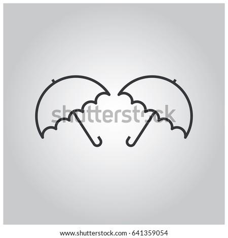 line umrellas icon vector