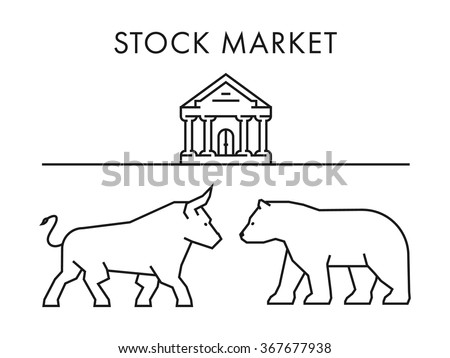 Line vector design concept for stock market.