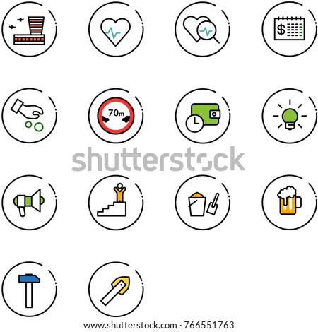 line vector icon set   airport
