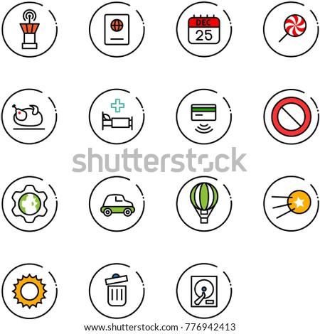 line vector icon set   airport